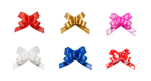 Ribbon bows - red, pink, blue, gold - all colors Stock Images