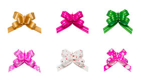 Ribbon bows - red, pink, blue, gold - all colors Stock Image