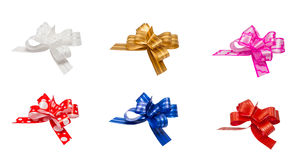 Ribbon bows - red, pink, blue, gold - all colors Stock Photos