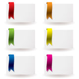 Ribbon business card Royalty Free Stock Photo