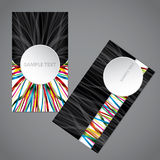 Ribbon business card with big 3d circle Stock Photos