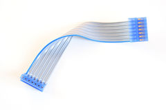 Ribbon cable. Flexible ribbon cable used in the electronics industry Royalty Free Stock Photo