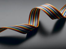 Ribbon Cable. Computer cable on a black background Stock Images