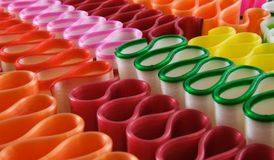 Ribbon Candy. Several colorful pieces of ribbon candy Stock Images