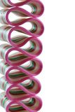 Ribbon Candy. Colorful piece of ribbon candy isolated on white Royalty Free Stock Images