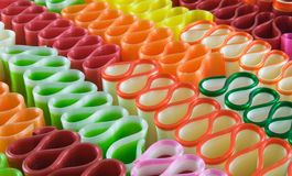 Ribbon Candy. Several colorful pieces of ribbon candy Stock Photography