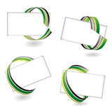 Ribbon card green Stock Photos