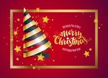 Ribbon Christmas tree Stock Images