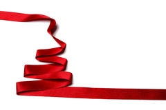 Ribbon christmas tree Stock Images