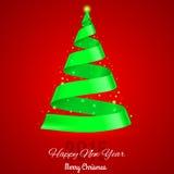 Ribbon Christmas tree. Stock Photography