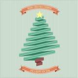 Ribbon christmas tree Royalty Free Stock Image