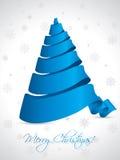 Ribbon christmas tree on white background Stock Photo
