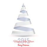 Ribbon Christmas tree. Royalty Free Stock Images