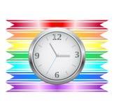 Ribbon clock Stock Images