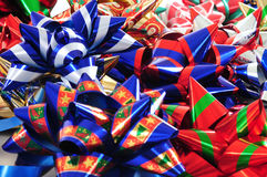 Ribbon collection. Collection of colorful Christmas or present ribbons Royalty Free Stock Photos