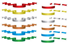 Ribbon collections Stock Image