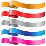 Ribbon color set on white vector. Royalty Free Stock Photography