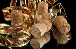 Ribbon and cork Royalty Free Stock Photos