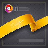 Ribbon cover design template Royalty Free Stock Image