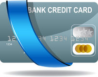 Ribbon Credit Card Royalty Free Stock Photos