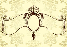 Ribbon with crown in vintage style Stock Photo