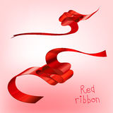 Ribbon curled red a Royalty Free Stock Photography