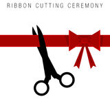 Ribbon Cutting Ceremony. An image of an abstract ribbon cutting ceremony royalty free illustration