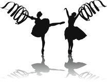Ribbon dance Royalty Free Stock Photography