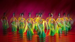 Ribbon dance  2. Dance: ribbons waving, good lucky for you Royalty Free Stock Photo