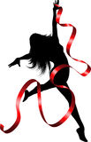 Ribbon dancer Royalty Free Stock Photo