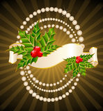 Ribbon is decorated for christmastides Royalty Free Stock Photo