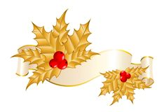 Ribbon is decorated for christmastides Royalty Free Stock Image