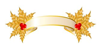 Ribbon is decorated for christmastides Royalty Free Stock Photography