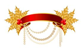 Ribbon is decorated for christmastides Royalty Free Stock Photos