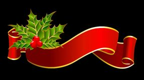 Ribbon is decorated for christmastides Stock Photography