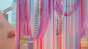 Ribbon decoration event stock video footage