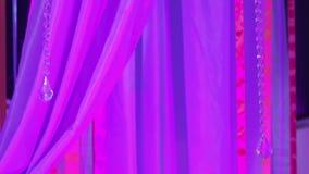 Ribbon decoration event stock video
