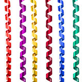 Ribbon decoration spiral set Stock Photography