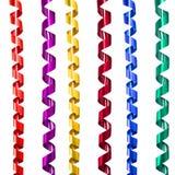 Ribbon decoration spiral set Stock Photography