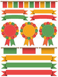 Ribbon decorations Royalty Free Stock Images