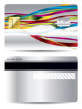 Ribbon design on credit card Royalty Free Stock Photography
