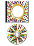 Ribbon disk and case design Royalty Free Stock Image