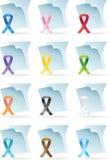 Ribbon Document Icons Royalty Free Stock Image