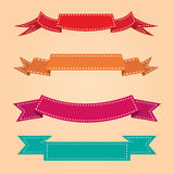 Ribbon dot warm tone set. For every design work Royalty Free Stock Photos
