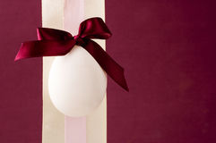Ribbon with easter eggs Royalty Free Stock Photos