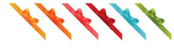 Ribbon elements Stock Image