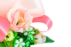 Ribbon & Fabric Flower Royalty Free Stock Image