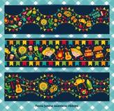 Ribbon of festa Junina village festival. Festa Junina village festival in Brazil. Banner layout Royalty Free Stock Images