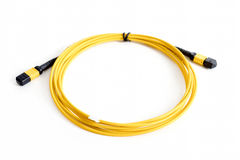 Ribbon fiber optic patchcord with connector MTP Stock Photography