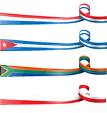 Ribbon flag  set Stock Photography